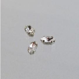 Sew on rhinestone marquise cristal 10 mm