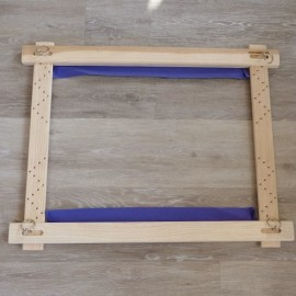 Small Luneville embroidery frame with mortise 0,70 x 0,55 m
