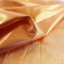 Paper lame fabric copper