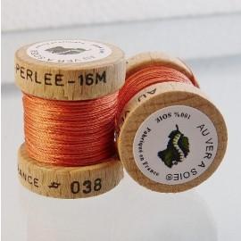 Perlé silk orange pink Au ver à Soie n° 038