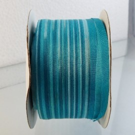 Silk ribbon 4 mm turquoise color-changing
