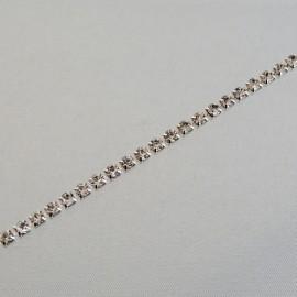 Rhinestone cup chain 3 mm crystal