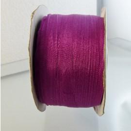 Ruban soie 7 mm fuchsia foncé