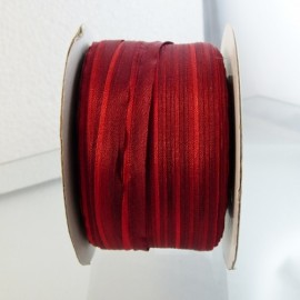 Silk ribbon 4 mm red color changing