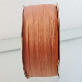 Silk ribbon 4 mm salmon pink