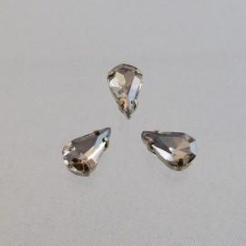 Sew on rhinestone drop smoked cristal 10 mm