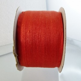Silk ribbon 4 mm vermillion orange
