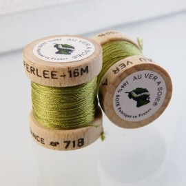Perlé silk almond green Au ver à Soie n° 718