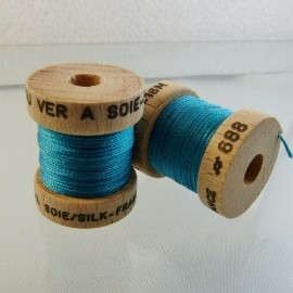 Perlé silk turquoise blue Au ver à Soie n° 288