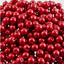 Vintage bead dark red 4 mm