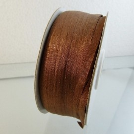 Silk ribbon 4 mm brown