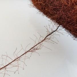 Embroidery thread Métallo Frisette copper and black