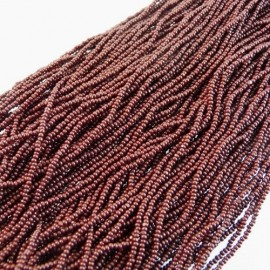 Strung Charlotte 13/0 opaque dark brown