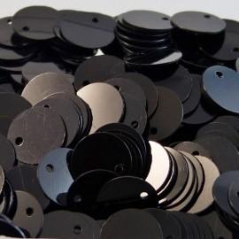 Flat sequin 8 mm shiny black