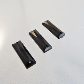 Sew on rhinestone 8 x 24 mm black
