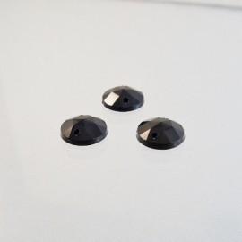 Sew on rhinestone round 10 mm black