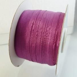 Silk ribbon 4 mm purplish