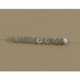 cup sequin 4 mm metallic matt silver on strand