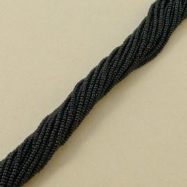 Seed bead 2 mm op. Black on strand