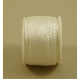 Silk ribbon 13 mm white