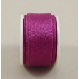Silk ribbon 13 mm dark fuchsia