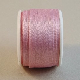 Silk ribbon 13 mm rose dragée