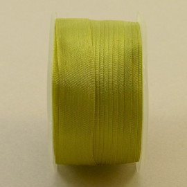 Silk ribbon 13 mm light chartreuse green