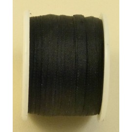Silk ribbon 2 mm black