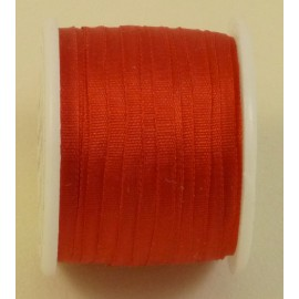 Silk ribbon 2 mm red
