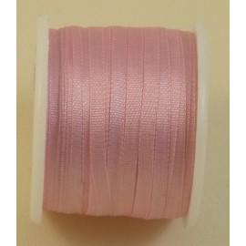 Silk ribbon 2 mm rose dragée