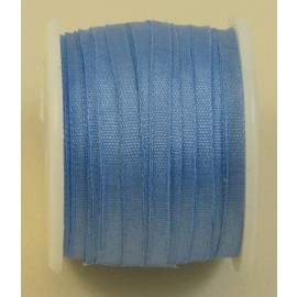Silk ribbon 2 mm blue sky
