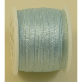 Silk ribbon 2 mm baby blue