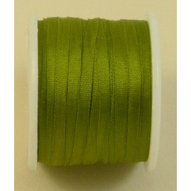Silk ribbon 2 mm olive green