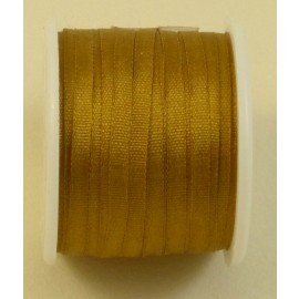Silk ribbon 2 mm bronze