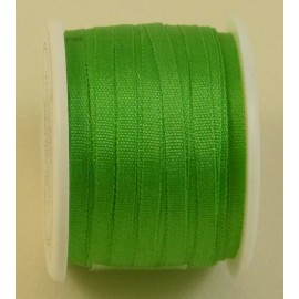 Silk ribbon 2 mm bright green
