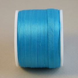 Silk ribbon 4 mm turquoise blue