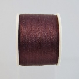 Silk ribbon 4 mm dark brown
