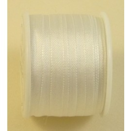 Silk ribbon 4 mm white