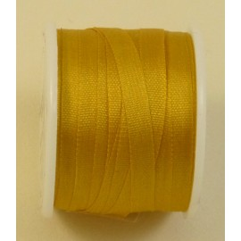 Silk ribbon 4 mm yellow gold