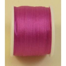 Silk ribbon 4 mm fuchsia