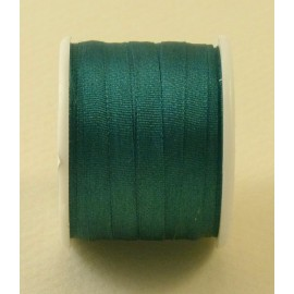 Silk ribbon 4 mm emerald