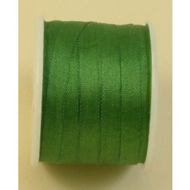Silk ribbon 4 mm forest green