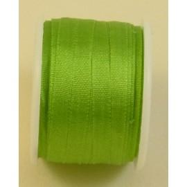Silk ribbon 4 mm lemon green