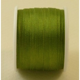 Silk ribbon 4 mm olive green