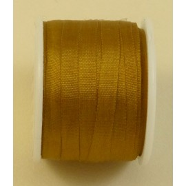 Silk ribbon 4 mm bronze
