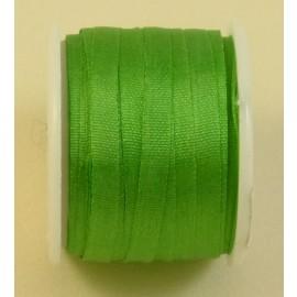 Ruban soie 4 mm vert vif