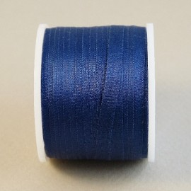 Silk ribbon 4 mm navy blue