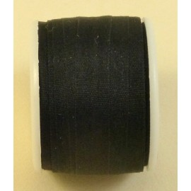 Silk ribbon 7 mm black