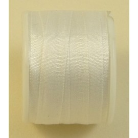 Silk ribbon 7 mm white
