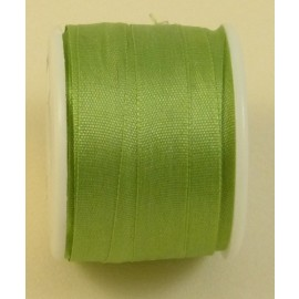 Silk ribbon 7 mm almond green